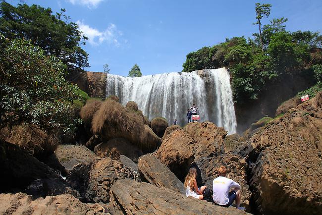 Elephant Falls, near Dalat, Vietnam. April 19, 2016.