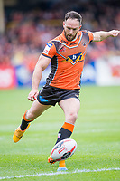Picture by Allan McKenzie/SWpix.com - 13/05/2017 - Rugby League - Ladbrokes Challenge Cup - Castleford Tigers v St Helens - The Mend A Hose Jungle, Castleford, England - Luke Gale kicks a conversion.