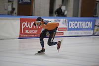 SCHAATSEN: LEEUWARDEN: 28-09-2016, Elfstedenhal, training, Konrad Niedzwiedsi (POL), ©foto Martin de Jong