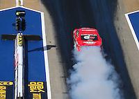 Jun 17, 2016; Bristol, TN, USA; NHRA pro stock driver Drew Skillman during qualifying for the Thunder Valley Nationals at Bristol Dragway. Mandatory Credit: Mark J. Rebilas-USA TODAY Sports
