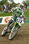 Motocross, MX2 WM 2004, Weltmeisterschaft, Grand Prix of Europe, Gaildorf (Germany) Sebastien Pourcel (FRA), Kawasaki