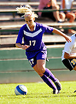 31 August 2007: University of Central Arkansas Sugar Bears' Lauren Carter, a Senior from Plano, Texas, in action against the University of Vermont Catamounts at Historic Centennial Field in Burlington, Vermont. The Catamounts defeated the Sugar Bears 1-0 during the TD Banknorth Soccer Classic...Mandatory Photo Credit: Ed Wolfstein Photo