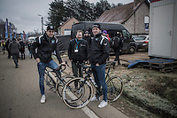 New year = new team &amp; new bikes for Wout Van Aert (BEL/Crelan-Willems) &amp; Tim Merlier (BEL/Crelan-Willems); both relaxed hours before the race<br /> <br /> GP Sven Nys 2017