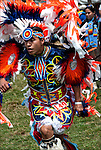 Dancer # 149 in competition dance, ethnic pride, heritage and celebration at Native American (Thunderbird) Pow Wow.