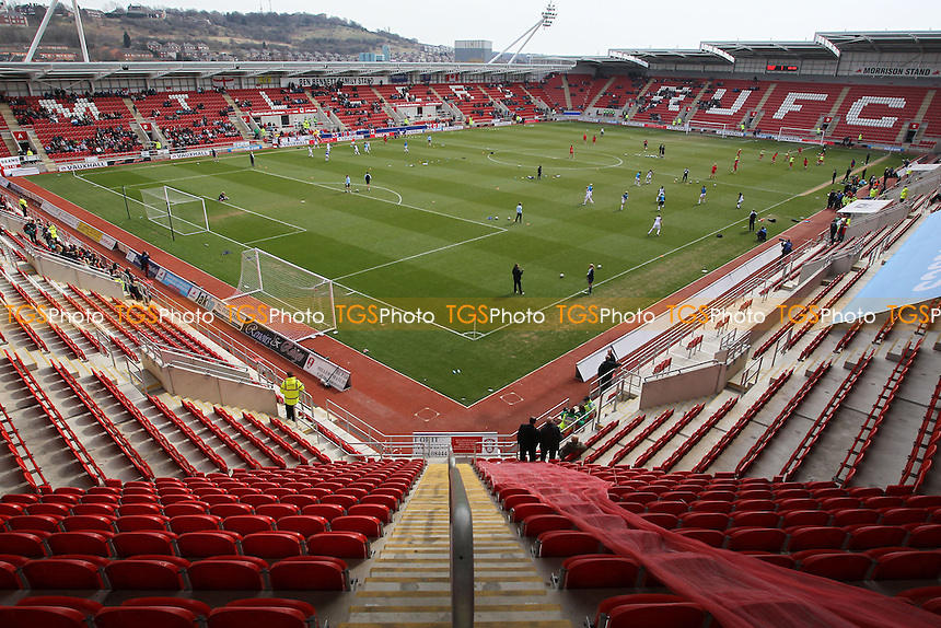 General view of the ground ahead of kick-off - England Women vs Canada Women - International Football Friendly Match at the New York Stadium, Rotherham United FC - 07/04/13 - MANDATORY CREDIT: Gavin Ellis/TGSPHOTO - Self billing applies where appropriate - 0845 094 6026 - contact@tgsphoto.co.uk - NO UNPAID USE.