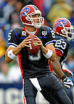 7 September 2008:  Buffalo Bills' quarterback Trent Edwards sets to pass against the Seattle Seahawks at Ralph Wilson Stadium in Orchard Park, NY. The Bills defeated the Seahawks 34-10 in the season opening game...Mandatory Photo Credit: Ed Wolfstein Photo