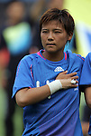 06 August 2008: Shinobu Ohno (JPN).  The women's Olympic team of New Zealand tied the women's Olympic soccer team of Japan 2-2 at Qinhuangdao Olympic Center Stadium in Qinhuangdao, China in a Group G round-robin match in the Women's Olympic Football competition.