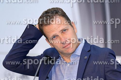 08.06.2015, Mercedes Benz Zenter, Koeln, GER, Nationalmannschaft, Pressekonferenz, im Bild Sportlicher Leiter Oliver Bierhoff kratzt sich nachdenklich am Kopf // during a press conference of the german national football team at the Mercedes Benz Zenter in Koeln, Germany on 2015/06/08. EXPA Pictures &copy; 2015, PhotoCredit: EXPA/ Eibner-Pressefoto/ Sch&uuml;ler<br /> <br /> *****ATTENTION - OUT of GER*****