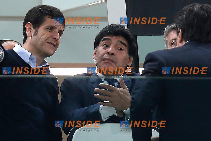 Diego Armando Maradona, Torino 1-5-2014, Juventus Stadium, Football Calcio 2013/2014 Europe League, Juventus - Benfica, Foto Marco Bertorello/Insidefoto