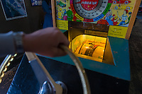 Coin-operated arcade machine in Musee Mecanique in Fisherman's Wharf, San Francisco
