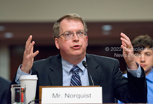 David L. Norquist testifies before the United States Senate Armed Services Committee on his nomination as Under Secretary of Defense (Comptroller) on Capitol Hill in Washington, DC on May 9, 2017.<br /> Credit: Ron Sachs / CNP