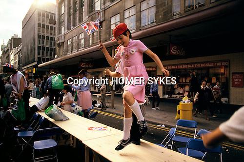 Silver Jubilee celebrations, London 1977.Uk oxford street street party. London