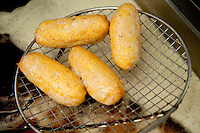 Pizzeria Giuliano, serving popular street food - 'fritture', arancini and crocche di patate, Naples, Italy