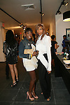 Recording Artist Estelle and Tia Walker attend Save the Eggs benefit Cocktails 2010 hosted by Tia Walker, Peggie Walker, BoConcept Owner Shaokao Cheng & Emma Snowdon-Jones at BoConcept New York, 5/17/10