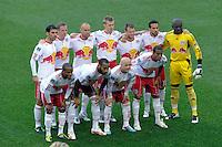 New York Red Bulls starting eleven prior to a Major League Soccer (MLS) match against CD Chivas USA at Red Bull Arena in Harrison, NJ, on May 15, 2011.