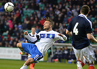 Italy U21 Ciro Immobile tries a spectacular shot