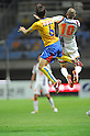 Makoto Kakuda (Vegalta), Rafael (Ardija),JULY 23, 2011 - Football / Soccer :2011 J.League Division 1 match between Vegalta Sendai 0-1 Omiya Ardija at Yurtec Stadium Sendai in Miyagi, Japan. (Photo by AFLO)