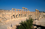 Jordan, Jerash. The Cardo, or the colonnaded street&amp;#xA;<br />