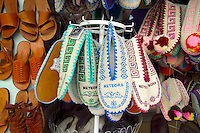 Kalambaka, Kastraki, Meteora, Greece, June 2006. Local felt and leather shoes in a souvenier shop. The Monastaries of Meteora can be found high on the steepest rocks. Photo by Frits Meyst/Adventure4ever.com