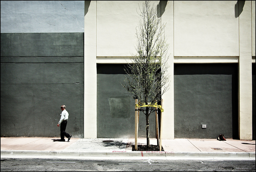 Miami Avenue, gingerly<br /> From &quot;Walking Downtown&quot; series. Miami, 2009