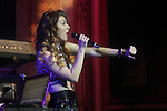 """Amy Heidemann of Karmin performs at special private concert event, sponsored by Garnier Fructis to celebrate Rolling Stone's """"Women Who Rock"""" issue and contest at The Hard Rock Cafe, NY  10/16/12"""