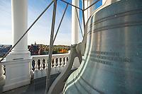 Bell details atop the Ira Allen Chapel, Fall UVM Campus