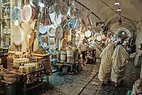 Tunisia.  Tunis Medina.  The Perfume Market, Souk al-Attarine.