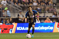 Michael Farfan (21) of the Philadelphia Union. The Philadelphia Union defeated Toronto FC 1-0 during a Major League Soccer (MLS) match at PPL Park in Chester, PA, on October 5, 2013.