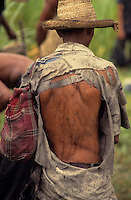 Portrait of sugarcane cutter in Bahia State, Brazil - exploitation of work.