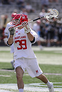 College Park, MD - May 14, 2017: Maryland Terrapins Ben Chisolm (39) passes the ball during the NCAA first round game between Bryant and Maryland at  Capital One Field at Maryland Stadium in College Park, MD.  (Photo by Elliott Brown/Media Images International)