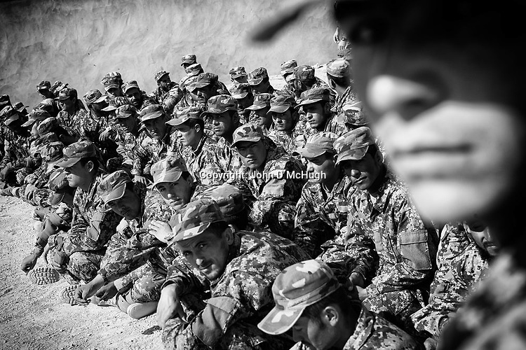 Afghan National Army soldiers are seen at the Regional Training Centre in Helmand, 10 Nov 2012.  (John D McHugh)