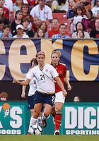 22 MAY 2010:  USA's Alex Morgan #21 during the International Friendly soccer match between Germany WNT vs USA WNT at Cleveland Browns Stadium in Cleveland, Ohio. USA defeated Germany 4-0 on May 22, 2010.