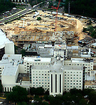 Aerial view of construction at Tallahassee Memorial Hospital in Tallahassee, Florida on April 17th 2002.    (Mark Wallheiser/TallahasseeStock.com)