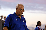 05 October 2015: Hofstra head coach Richard Nuttal (ENG). The Duke University Blue Devils hosted the Hofstra University Pride at Koskinen Stadium in Durham, NC in a 2015 NCAA Division I Men's Soccer match. Duke won the game 3-2 in overtime.