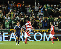 Portland Timbers vs New England Revolution during the MLS competition at Jeld-Wen Field, Portland Oregon, September 16, 2011.  The Portland Timbers defeated New England Revolution 3-0.