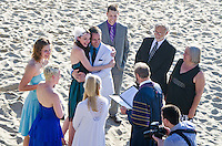 Congratulations to the young couple who just got married at Santa Monica Beach! (Monday, May 13, 2013)