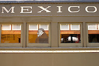 Railway car, Museo Nacional de los Ferrocarriles Mexicanos or National Railway Museum in the city of Puebla, Mexico