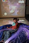 Official opening of the sensory room at  Crug Glas School in Swansea sponsored by BT and the Lord Taverners..Pupil Robyn Smith.05.12.12..©Steve Pope