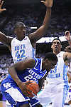 Kentucky Wildcats forward Alex Poythress (22) rebounds the ball during the UK men's basketball vs. North Carolina at the Dean Smith Center in Chapel Hill, N.C., on Saturday, December 14, 2013. Photo by Emily Wuetcher | Staff