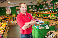 BNPS.co.uk (01202 558833)<br /> Pic: TomWren/BNPS<br /> <br /> Owner Simon Holland at Washingpool Farm Shop which was where Lenny Henry worked in Broadchurch.<br /> <br /> While the whole country has been enjoying the final series of TV drama Broadchurch, no one is relishing the show more than the businesses of West Bay.<br /> <br /> The 'Broadchurch effect' has sent visitor numbers to the sleepy Dorset town, where the show is set, skyrocketing in the past four years.<br /> <br /> And the latest, and final, series, which finishes on Monday, has only fanned the flames, with a host of new businesses benefiting from their association with the show.<br /> <br /> Tourism organisation Visit Dorset has experienced an increase of 133 per cent in enquries and bookings on its website.<br /> <br /> Local businesses which feature on screen have also seen their profits soar thanks to 'Broadies' who stop for a selfie before calling in to make a purchase.<br /> <br /> One premises in particular has been the Washingpool Farm Shop, which is Flintcombe Farm Shop run by Lenny Henry's character Ed Burnett in Broadchurch.