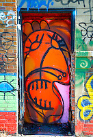 Colorful Wall Paintings on West Side of Manhattan