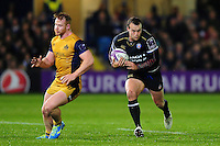 Michael van Vuuren of Bath Rugby goes on the attack. European Rugby Challenge Cup match, between Bath Rugby and Bristol Rugby on October 20, 2016 at the Recreation Ground in Bath, England. Photo by: Patrick Khachfe / Onside Images