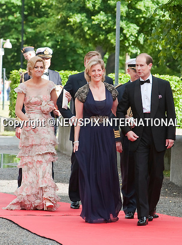 """PRINCE EDWARD and SOPHIE, COUNTES OF WESSEX.Pre-Wedding Dinner hosted by the Government of Sweden in honour of H.R.H Crown Princess Victoria and Mr Daniel Westling at Eric Ericsonhallen was attended by Royalty from all over the world. Stockholm_18/06/2010..Mandatory Photo Credit: ©Dias/Newspix International..**ALL FEES PAYABLE TO: """"NEWSPIX INTERNATIONAL""""**..PHOTO CREDIT MANDATORY!!: NEWSPIX INTERNATIONAL(Failure to credit will incur a surcharge of 100% of reproduction fees)..IMMEDIATE CONFIRMATION OF USAGE REQUIRED:.Newspix International, 31 Chinnery Hill, Bishop's Stortford, ENGLAND CM23 3PS.Tel:+441279 324672  ; Fax: +441279656877.Mobile:  0777568 1153.e-mail: info@newspixinternational.co.uk"""