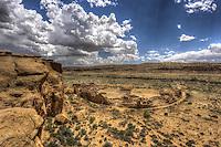 Above Pueblo Bonito - New Mexico<br /> Chaco Canyon National Historic Park