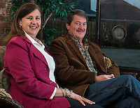 NWA Democrat-Gazette/ANTHONY REYES &bull; @NWATONYR<br /> Richard and Joanna Peak Friday, Jan. 30, 2015 in a friends home in Springdale. The couple often help with the Chase Family Foundation.