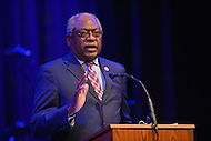 February 26, 2013  (Washington, DC)  Rep. James Clyburn (D-SC) speaking about former Rep. Carrie Meek during a Congressional Black Caucus event at the Howard Theatre.  (Photo by Don Baxter/Media Images International)