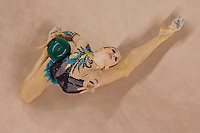Liubouv Charkashyna (BLR) performs with the ball during the final of the 2nd Garantiqa Rythmic Gymnastics World Cup held in Debrecen, Hungary. Sunday, 07. March 2010. ATTILA VOLGYI