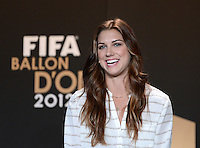Fussball International  FIFA Ballon d Or / Weltfussballerin 2012    Pressekonferenz   07.01.2013 Alex Morgan (USA)