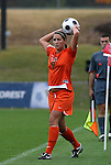 05 November 2008: Miami's Danielle Griebel. The University of North Carolina defeated the University of Miami 1-0 at Koka Booth Stadium at WakeMed Soccer Park in Cary, NC in a women's ACC tournament quarterfinal game.