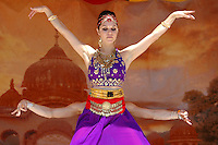 Priya Davis, 25, performs an Indian Dance piece,  &quot;East Meets West&quot; at Venice Beach on Sunday, Aug 05, 2007 during the the 31th Annual  Festival of Chariots..